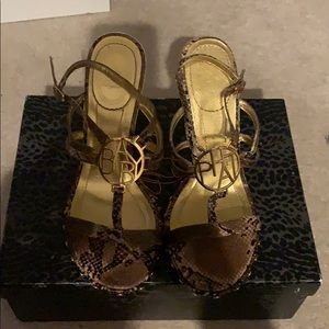 Baby Phat gold heel sandals